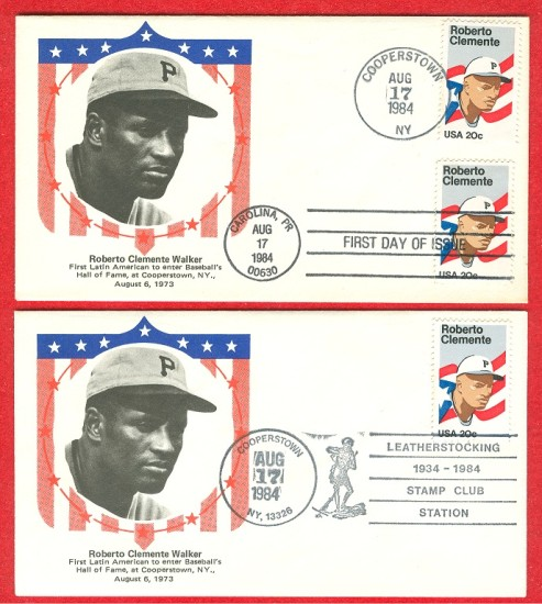 Baseball clemente stamps covers