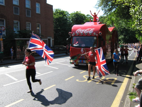 Torch Relay Coach Penge Summer Olympics Crystal Palace Park Road 2012