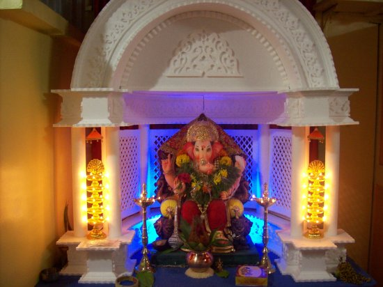 Ganpati+decoration+at+home
