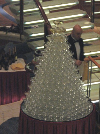 eastern caribbean cruise princess champagne glass pyramid