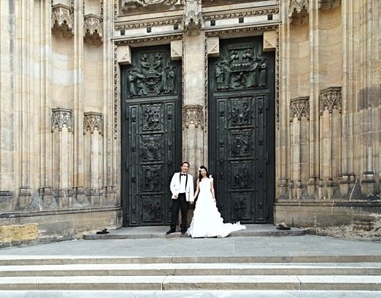 castle church wedding Prague Bohemia