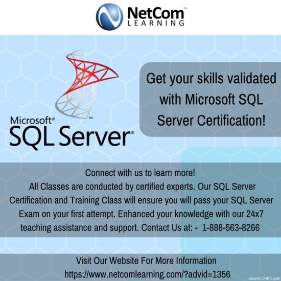 Get Your IT skills validated with Microsoft SQL Server Training and ...