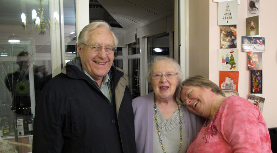 Sunday 30th December  Ralph and Eunice came to see us - she always has me in stitches!