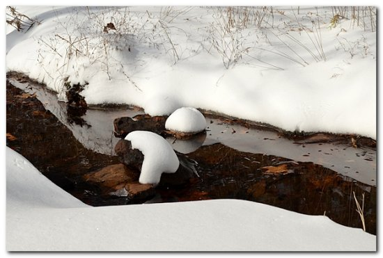 reflectionthursday creek winter snow