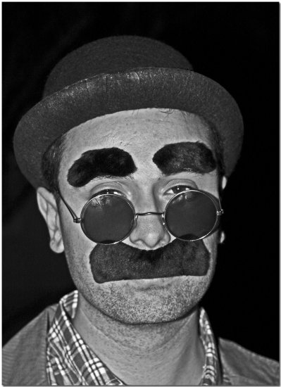 portrait male character hat moustache groucho