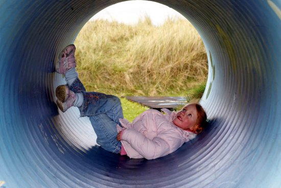 child girl daydream peaceful fun tunnel