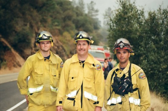 Real men from the OC braving the Yosemite fire 2008.  Thanks guys !