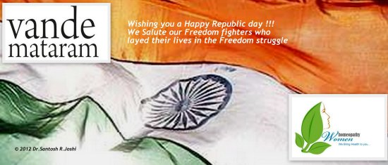 Republic day India Homeopathy women