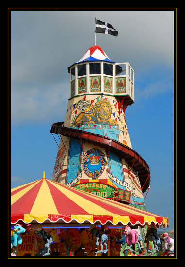 cornwall funfair fair helter skelter