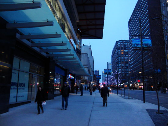 At 5:11pm.Over at the building,I just uploaded-On Yonge St.,at Gerrard-Toronto,Ont.,On Saturday,J...