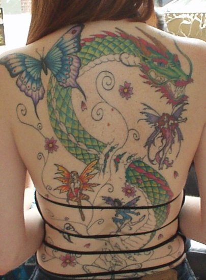 lizelle tattoo tattoos inkgimp dragon fairy fairies butterfly tatoo