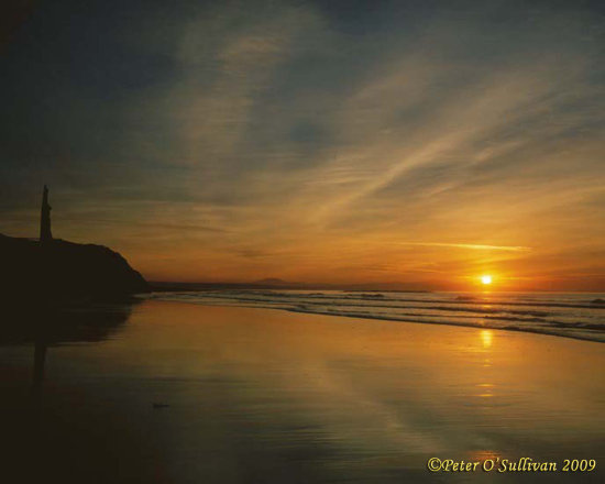 Ballybunion Sunset Beach Kerry Ireland Peter OSullivan