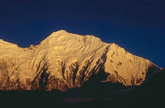 Everest at sunrise.....good morning from the top of the world.