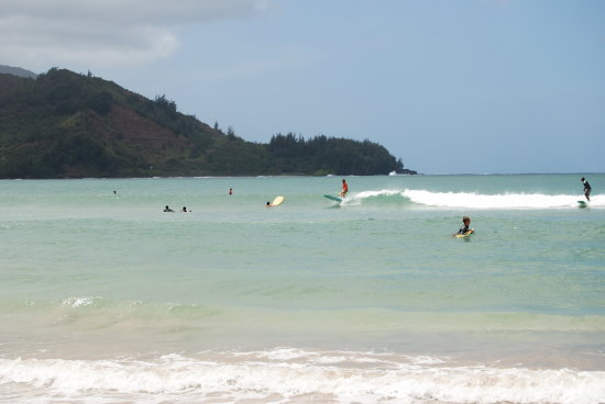 Hawaii Hanalei ocean Kauai waves surfing
