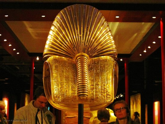 Tutankhamun Malmoe Gold Mask Back 2012 October Skane Sweden