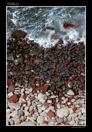 detail lesvos greece pebbles coast sea