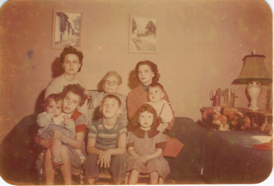 Grandma Stone Mary L Russell Ada Oklahoma and the kids