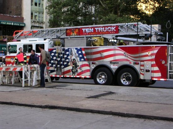 fire truck new york united states america ground zero world trade centre