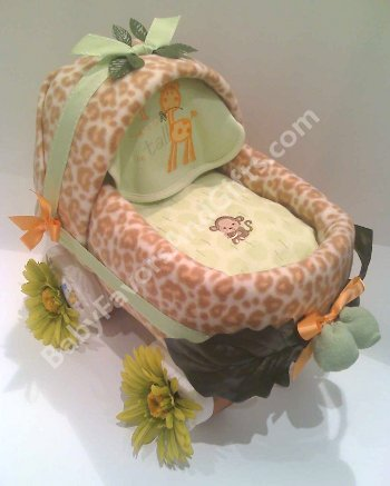 Baby carriage diaper cake unique baby shower gifts