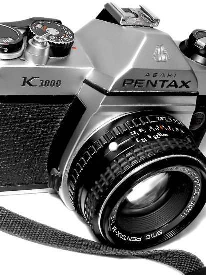 camera old 70 pentax k1000 macro tech