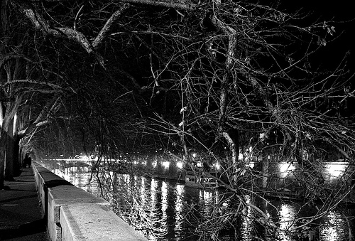 Rome black and white Tevere
