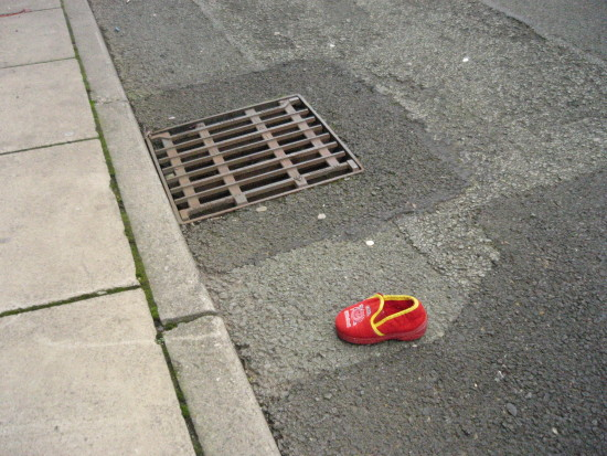 streetscene abandoned childs slipper