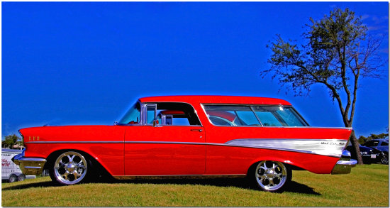 auto car chevy station wagon nomad custom classic
