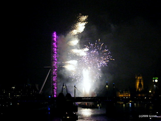 London Fireworks NewYear
