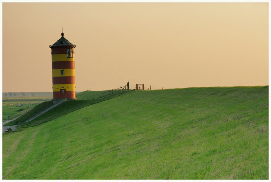 Lighthouse Pilsum OstFriesland Germany