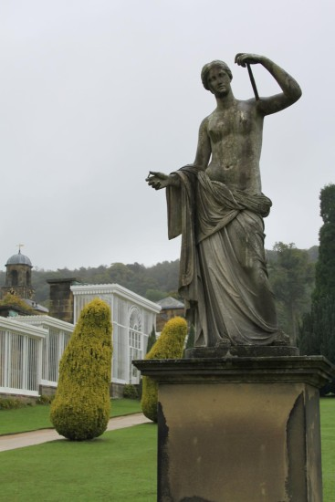 england chatsworth architecture landscape statues