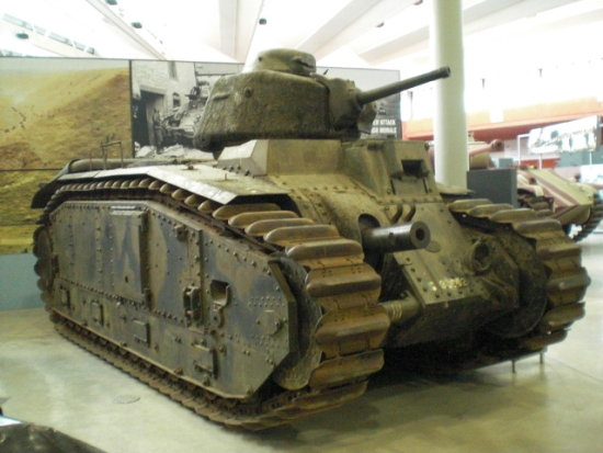 Last Bovington photo - a French Char B2 tank. This one was captured by the Germans in 1940, and u...
