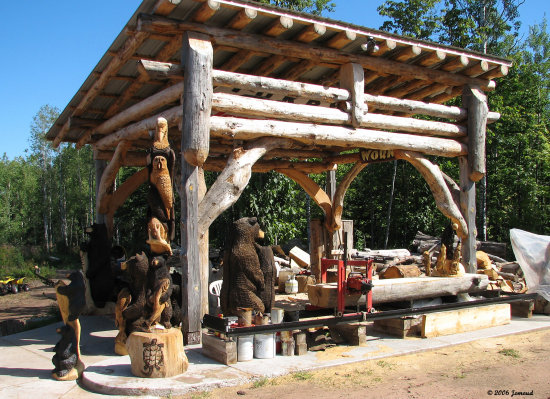 travel Wisconsin woodcarvings