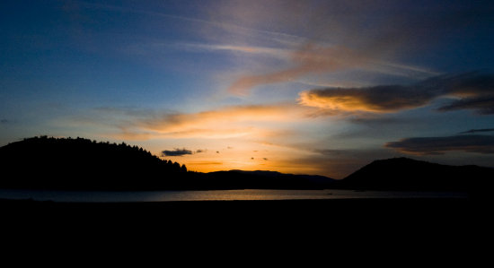A very pretty sunset from Lake Shastina