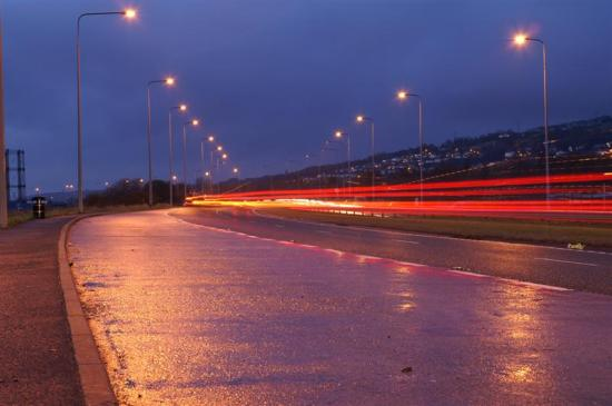 Long Exposure on the Bypass  8 seconds (on a tripod) gave the best combination of colour from t...