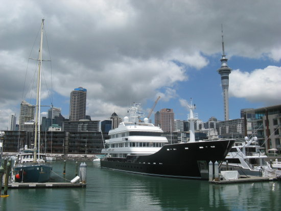 Auckland harbour from the fish market