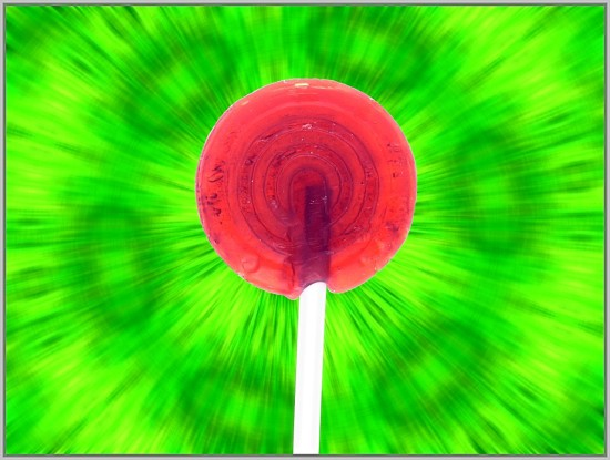 Red Lollipop Photo Candy