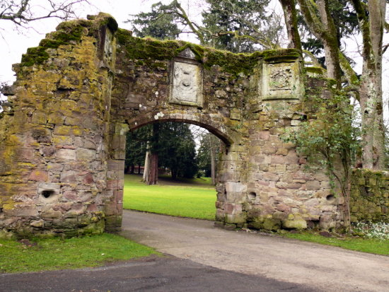 Scone Palace Perthshire Scotland Gate