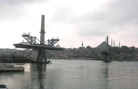 metro bridge construction istanbul M2 turkey