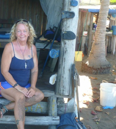 this is the happy face of the woman (me) who survived three months of primitive living and was ab...