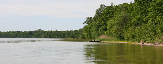 lake lithuania boats girl