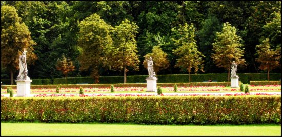 Nymphenburg gardens on walk