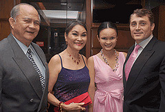 Steve Boccone and Karen Boccone with Frank and Annabelle Adriano