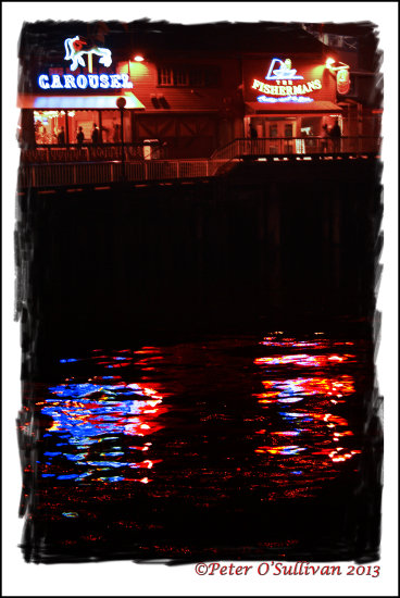 Reflectionthursday Neon Water Seattle Washington USA