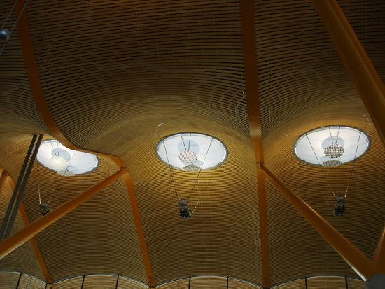 aeroporto airport madrid barajas light architecture spain