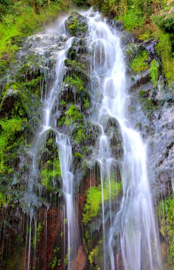 The falls at Clovelly North Devon  There is a cave behind where legend tells that Merlin the Ar...