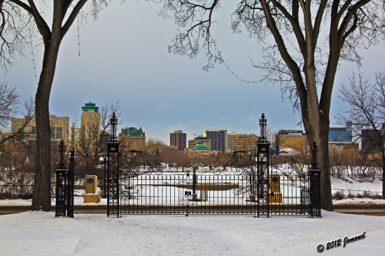 winnipeg skyline winter