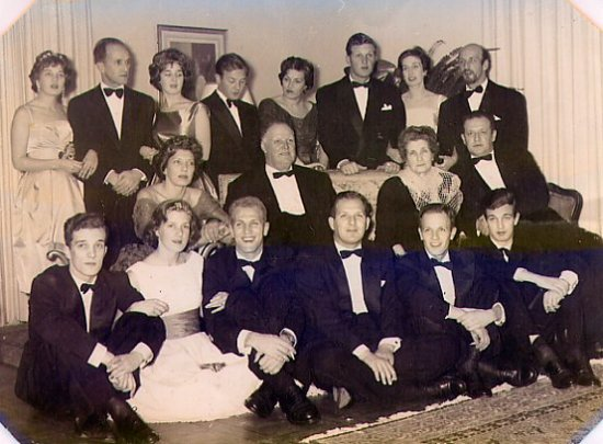 Grand father, grand mother, father, uncles and aunts in their home. Quinta da Regaleira. ...somet...