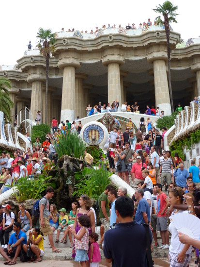 Once again Park Guell, very busy ... July 2009