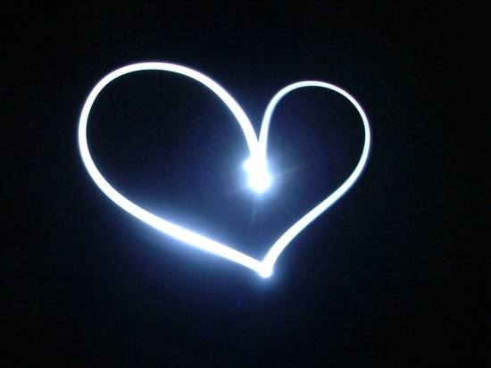 light neon heart shape