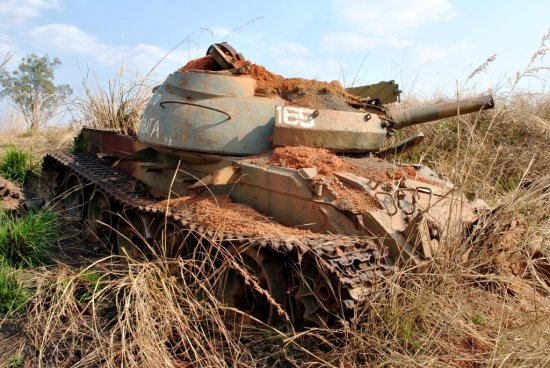 Destroyed T55 Kuito Huambo Road